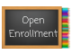 Open Enrollment written on blackboard