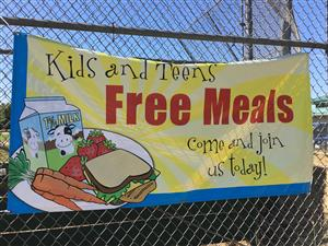 free meals sign